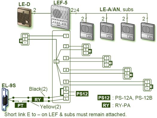 aiphone lef 5 wiring diagram