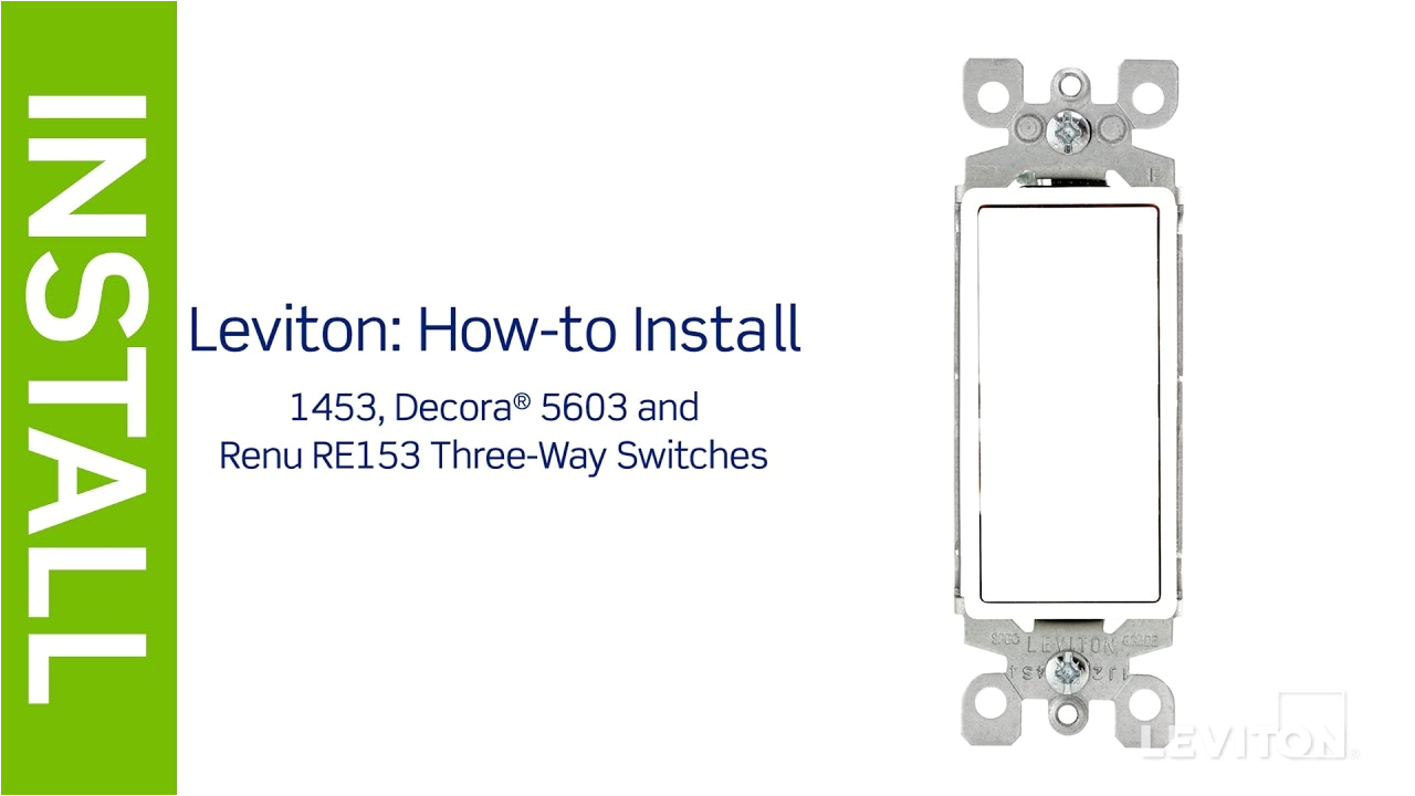 Leviton Double Pole Switch Wiring Diagram Leviton Presents How to Install A Three Way Switch Youtube