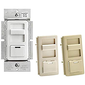 leviton ip710 dlz illumatech slide dimmer for led 0 10v power supplies 1200va 10a led 120 277 vac white w color change kits included