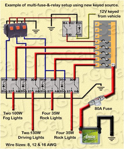 Light Relay Wiring Diagram Wiring Diagram for Off Road Lights Elegant Automotive Electrical