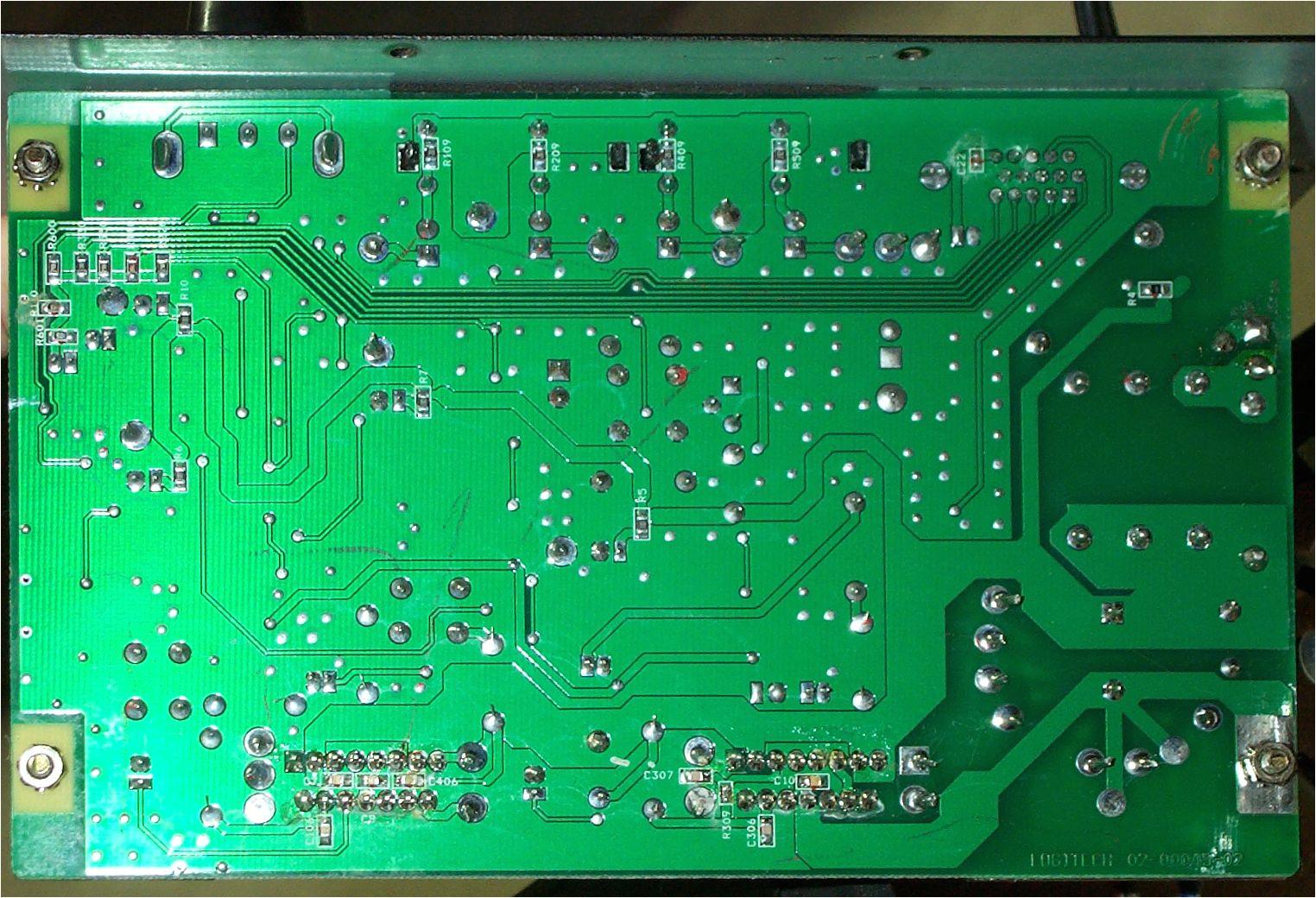 circuit board back side logitech z 640