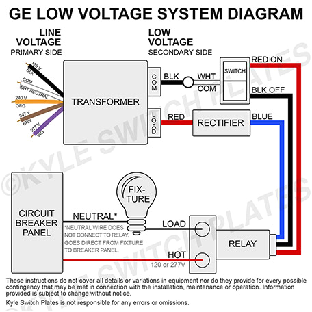 wiring your ge low voltage system transformer