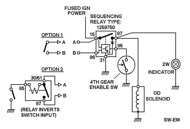 od wiring 4 based on wiring as shown in reference wiring diagram below option 1 shown with a momentary contact switch where both contacts are isolated and