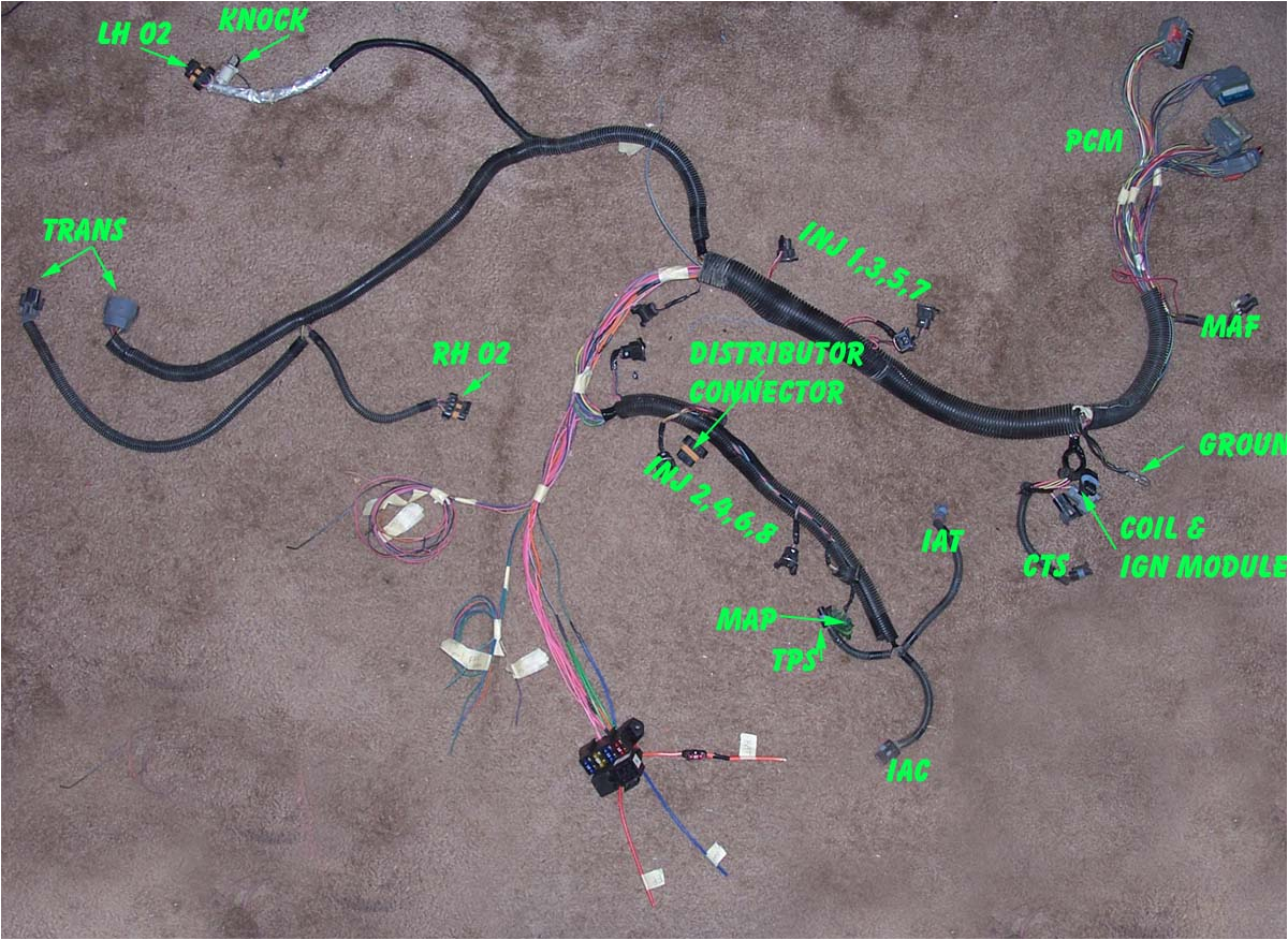 93 lt1 wiring harness diagram schematic
