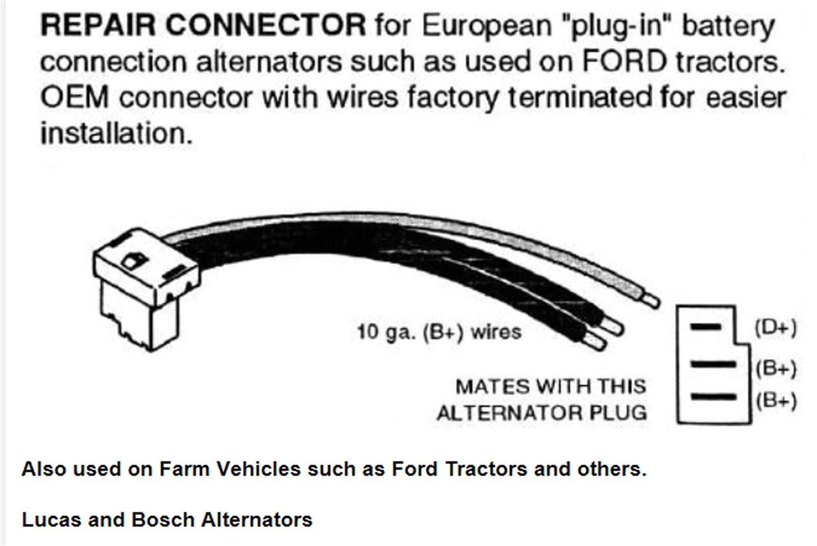 lucas alternator wiring diagram