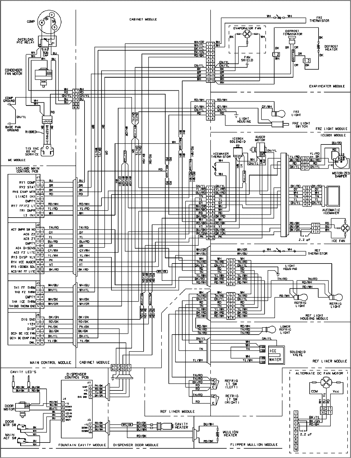 lg refrigerator parts diagram awesome maytag thermostat schematic wiring 8