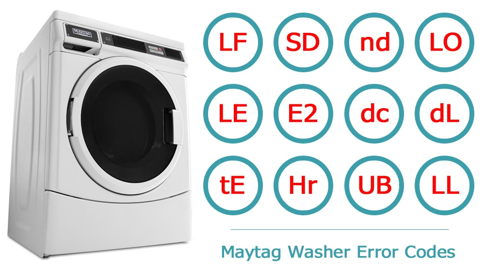 maytag washer error codes washer and dishwasher error codes and troubleshooting