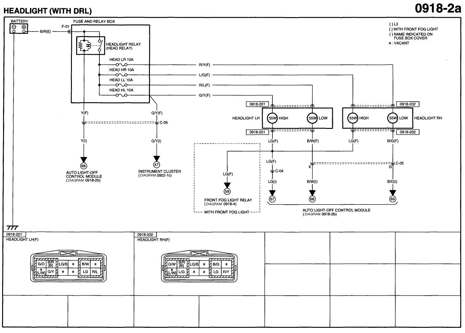 headlight diagram for 2000 mazda 626 wiring diagram review mazda 626 ge wiring diagram