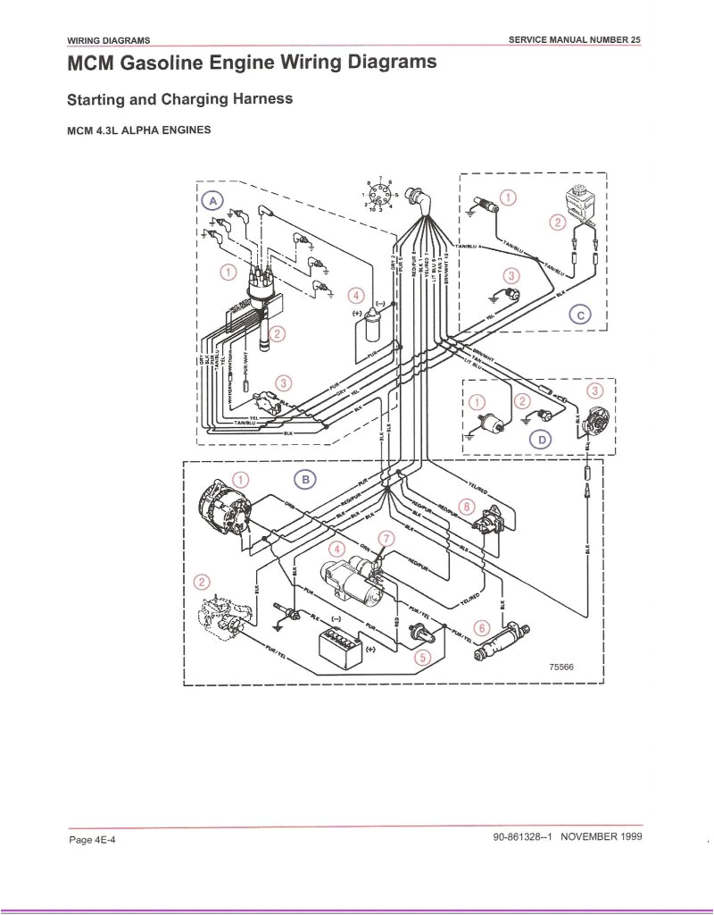 mercruiser 4 3 wiring diagram fresh mercruiser 5 7 alternator wiring diagram zookastar