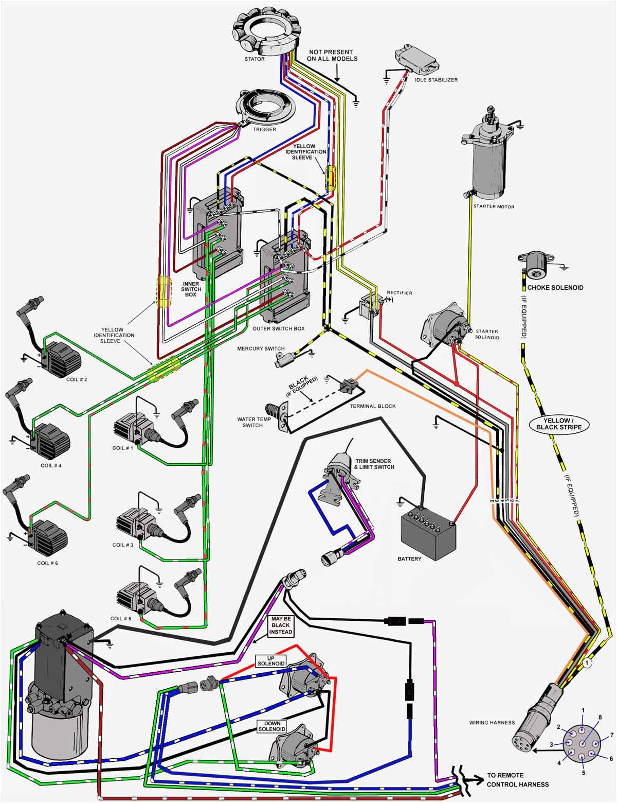 mercury trim wiring diagram