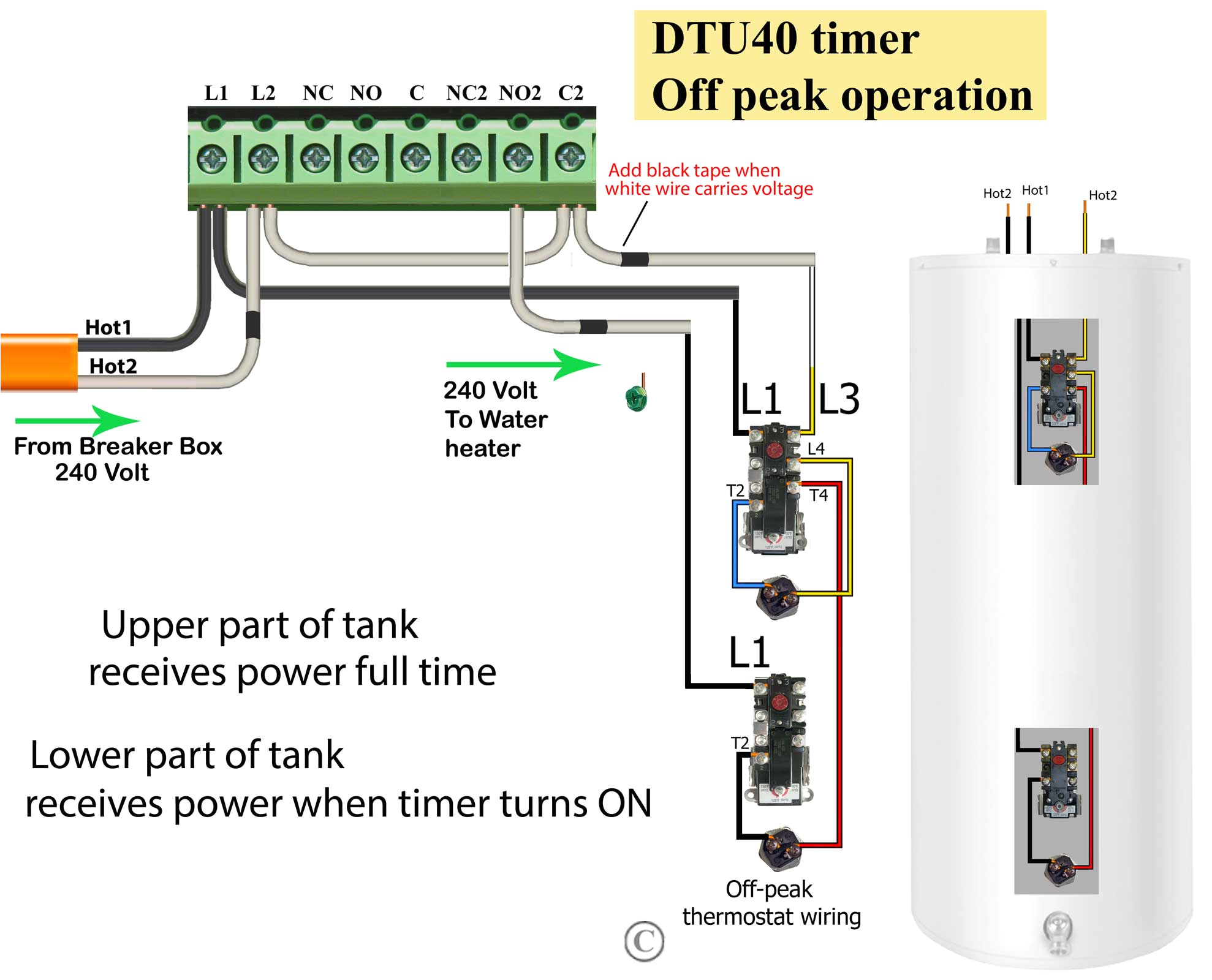 how to wire water heater thermostats thermostat wire gauge size thermostat wiring size
