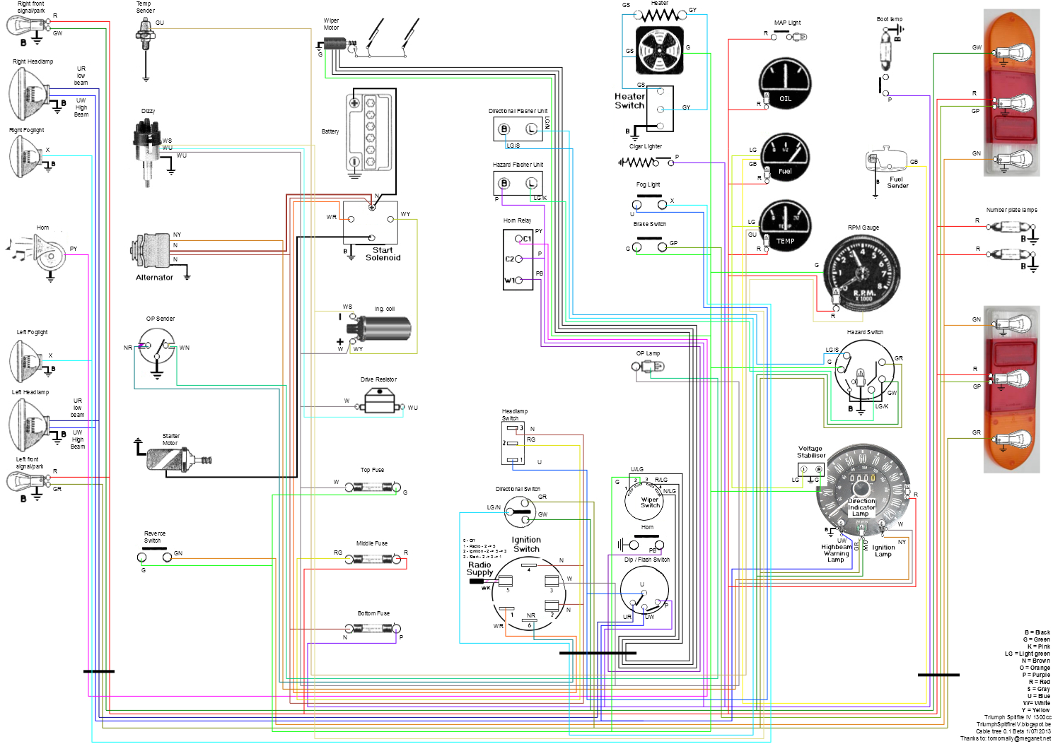 diagram of 1980 triumph spitfire wiring diagram expert 1980 spitfire wiring diagram
