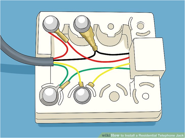 how to install a residential telephone jack with pictures how to wire a telephone socket how to wire a telephone