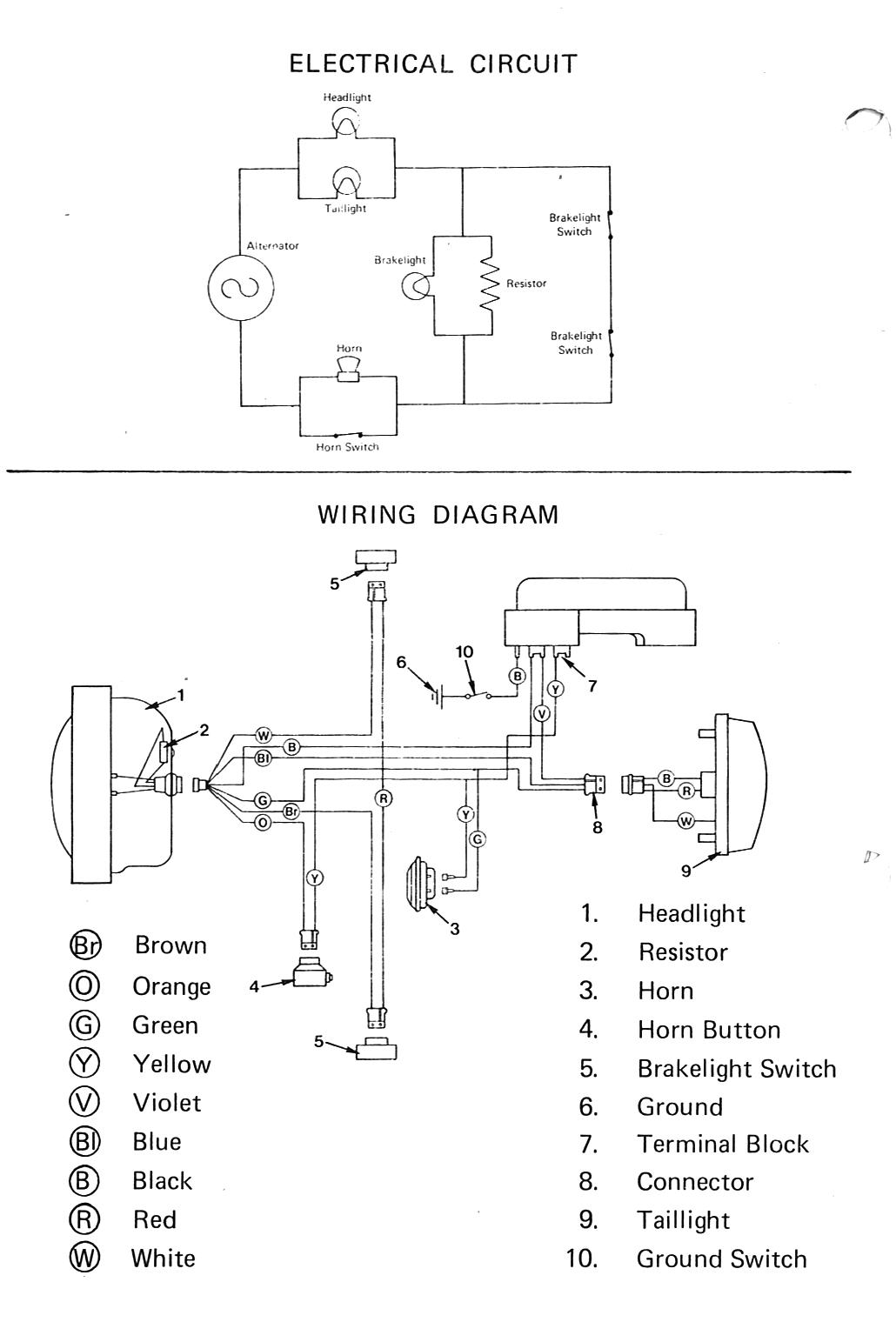 Moped Wiring Diagram Honda Moped Diagram Wiring Diagram Basic