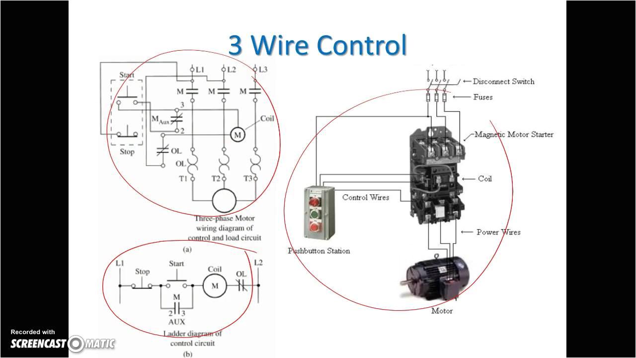 ladder diagram basics 3 2 wire 3 wire motor control circuit 3 wire fan control circuit 3 wire control schematic