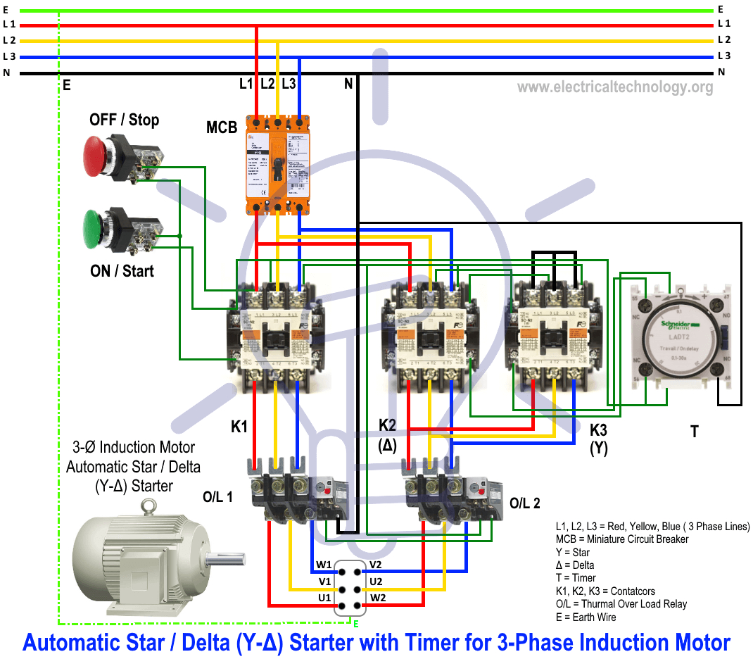 star delta starter y i starter power control and wiring connection wiring diagram 3 phase 10 wire motor repalcement parts and diagram