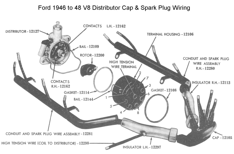 ford distributor for 1945 to 48 v8 photo