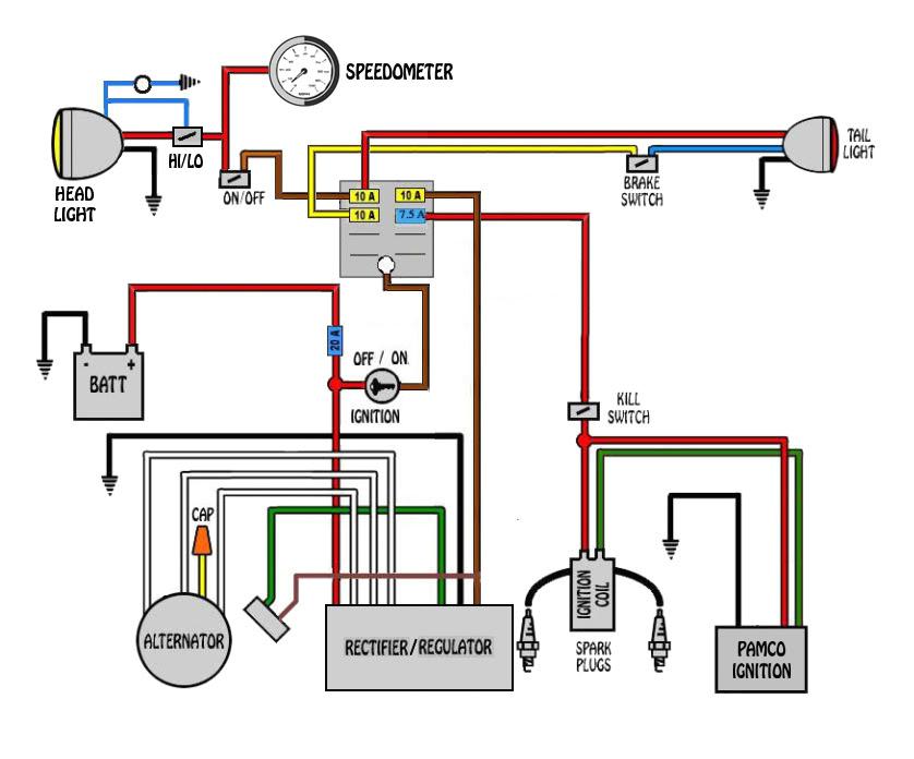 custom bike wiring diagram schematic wiring diagram user custom bike wiring diagram schematic