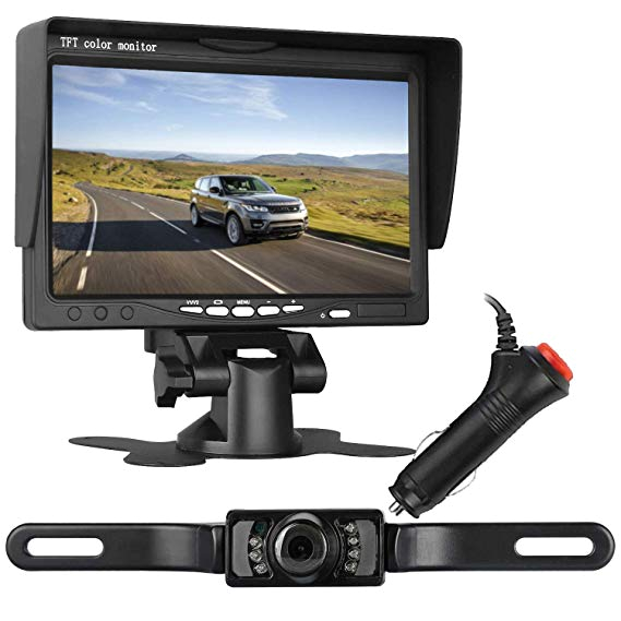 leekooluu backup camera and 7 quot monitor system for car suv van pickup