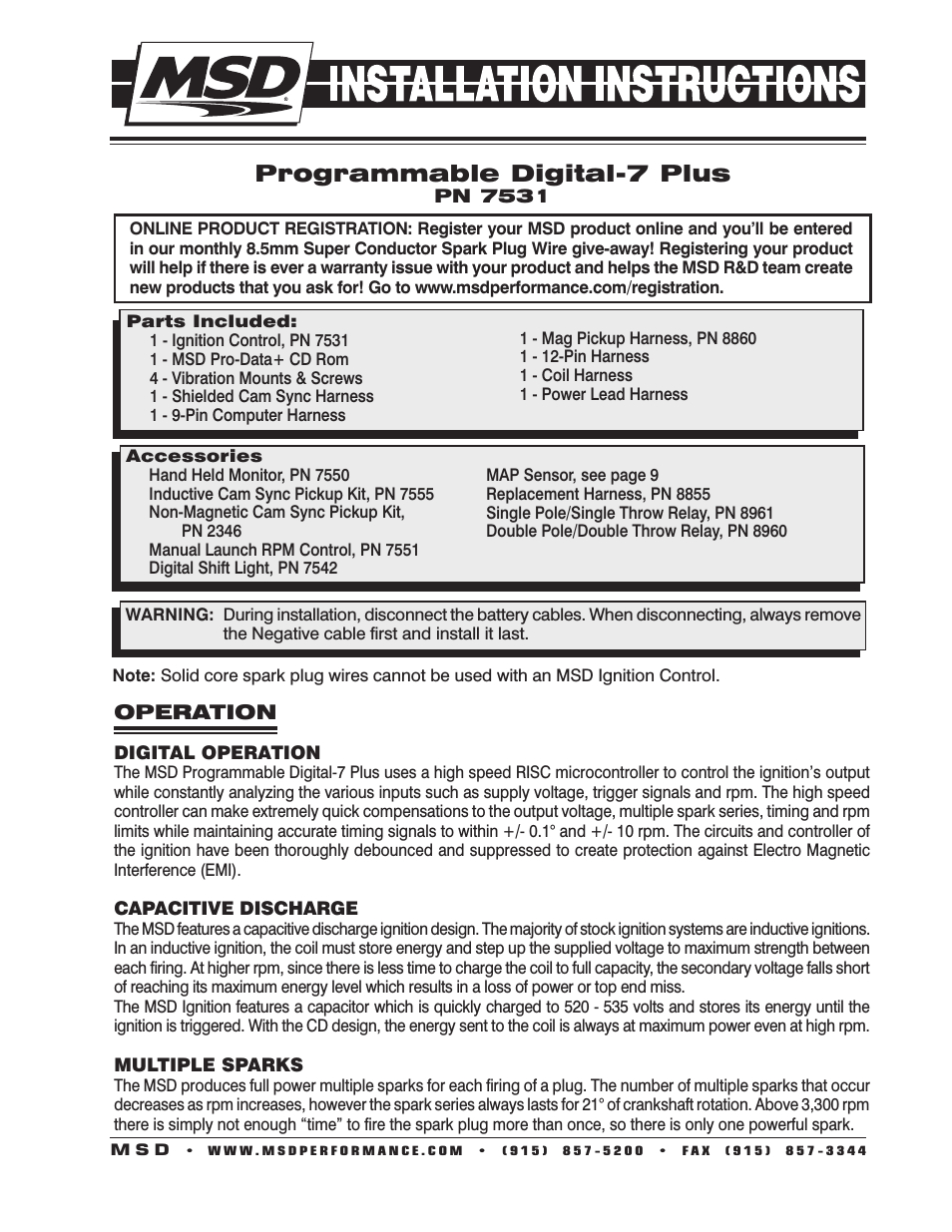 msd 7531 programmable digital 7 plus installation user manual 20 pages msd digital 7 plus wiring diagram msd digital 7 wiring diagram