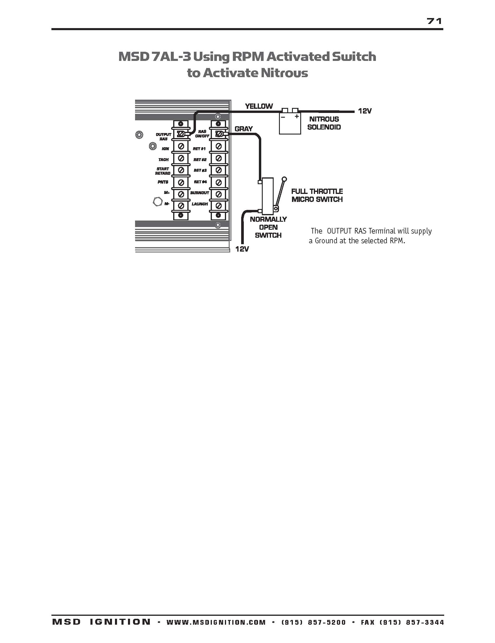 Msd Ignition Wiring Diagram 7al Rpm Activated Switch Wiring Diagram Schema Wiring Diagram