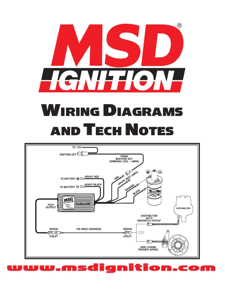 msd ignition wiring diagrams and tech notes distributor ignition system