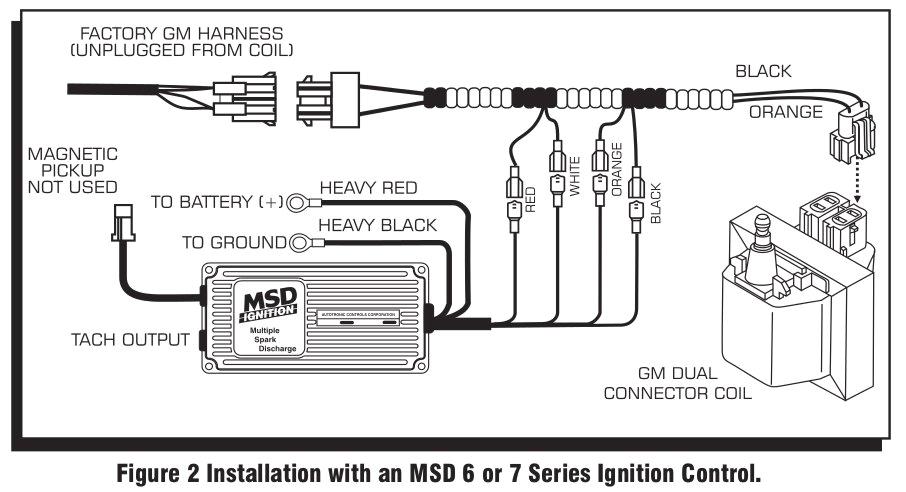 msd streetfire distributor furthermore electronic ignition coilmsd 9993 streetfire ignition kit 88 92 camaro firebird v8