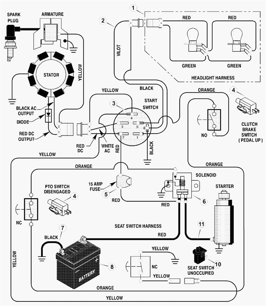 craftsman lawn tractor wiring diagram lovely craftsman riding mower electrical diagram