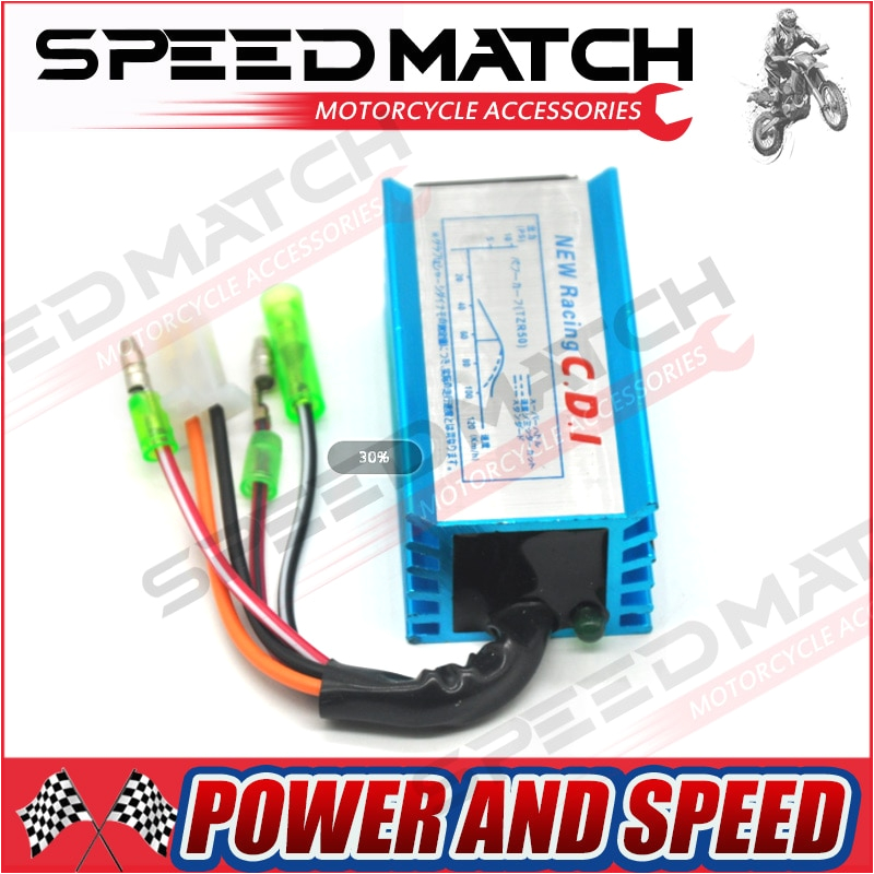 high performance racing cdi box ignition for yamaha jog scooter moped 2 stroke 50cc 90cc 1pe40qmb