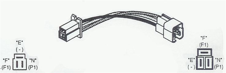 w910 adapts nippondenso e f n external regulator alternators to f e n green plug adapts lester 14153 to 14273