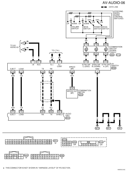 i am needing the color codes for speaker harness coming out of thenissan titan wiring diagram