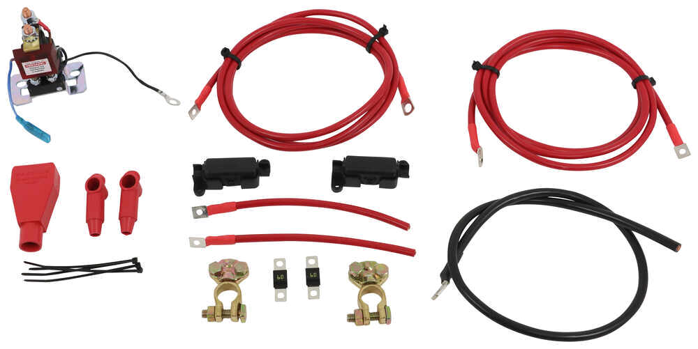 redarc smart start battery isolator with wiring kit 12 volt 100 amp redarc battery chargers 331 sbi12kit