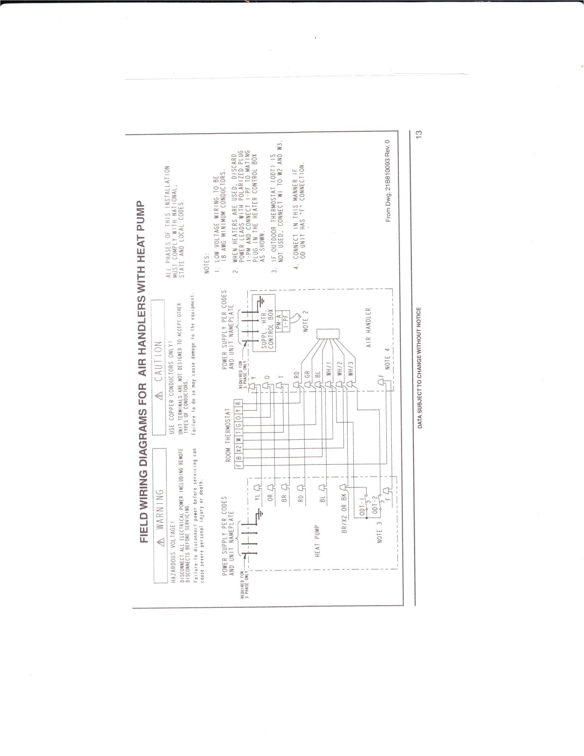 standard heat pump thermostat wiring diagram for