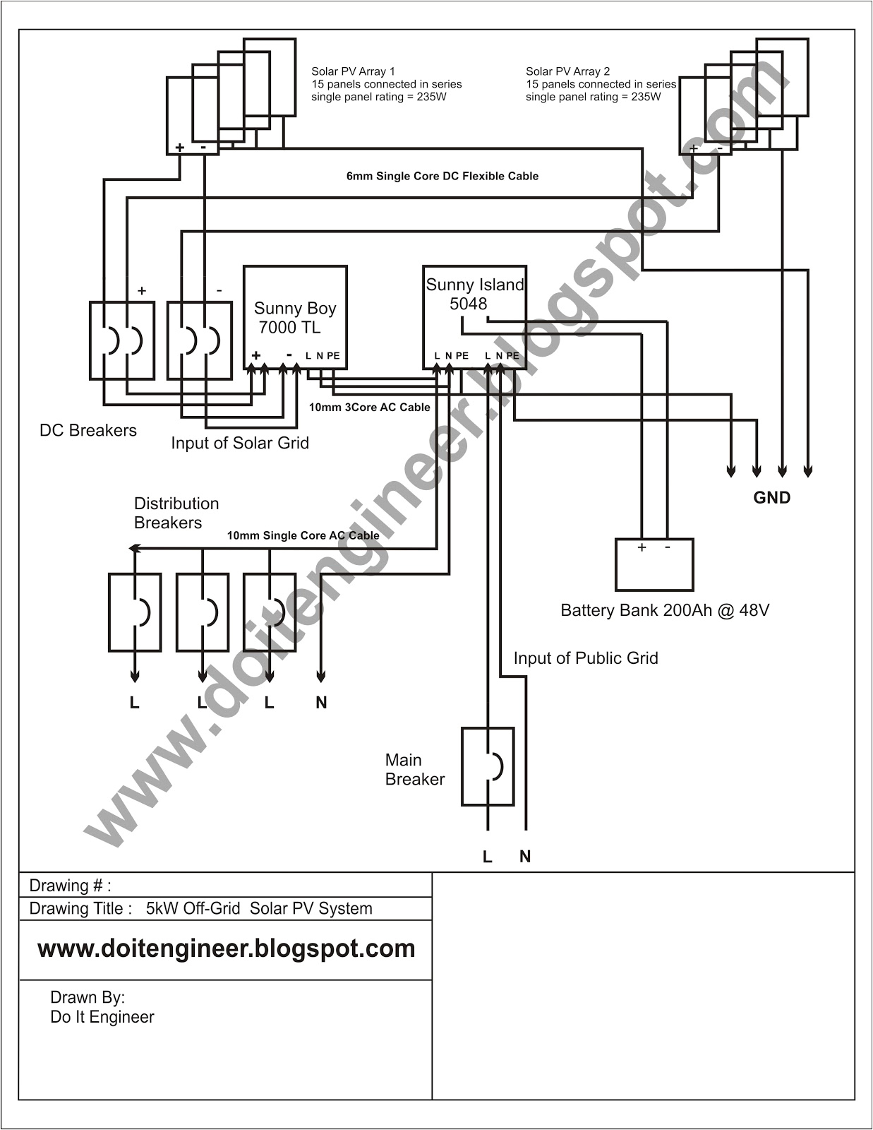 you may also know a how to design an off grid hybrid solar pv system using sma solar inverters b circuit diagram for 5kw off grid solar pv system