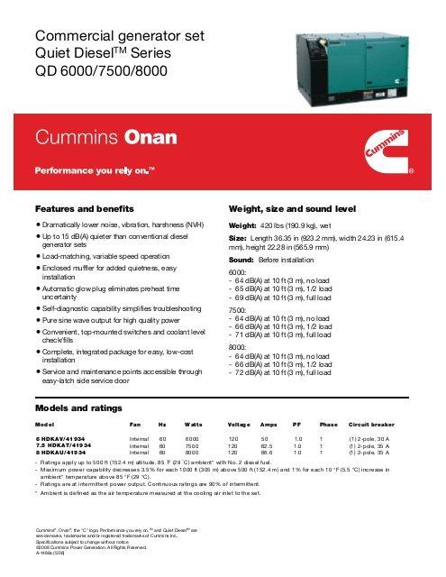 commercial generator set quiet dieseltm series cummins onan jpg