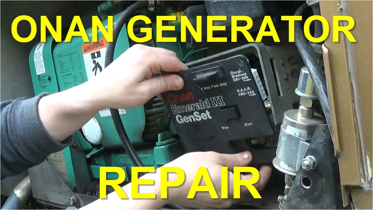 onan generator repair replacing control board voltage regulator