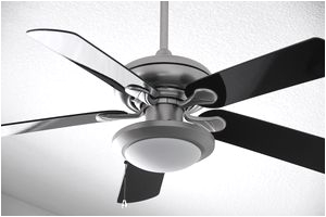 close up of a ceiling fan