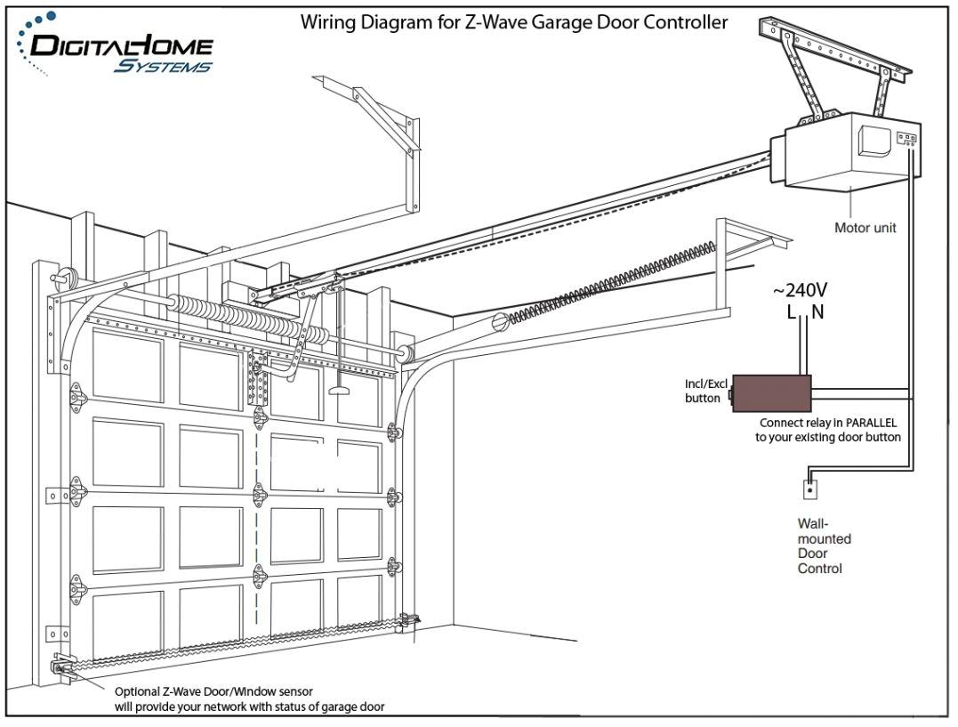 genie garage door opener sensor wiring diagram interesting garage wire diagram garage wire diagram