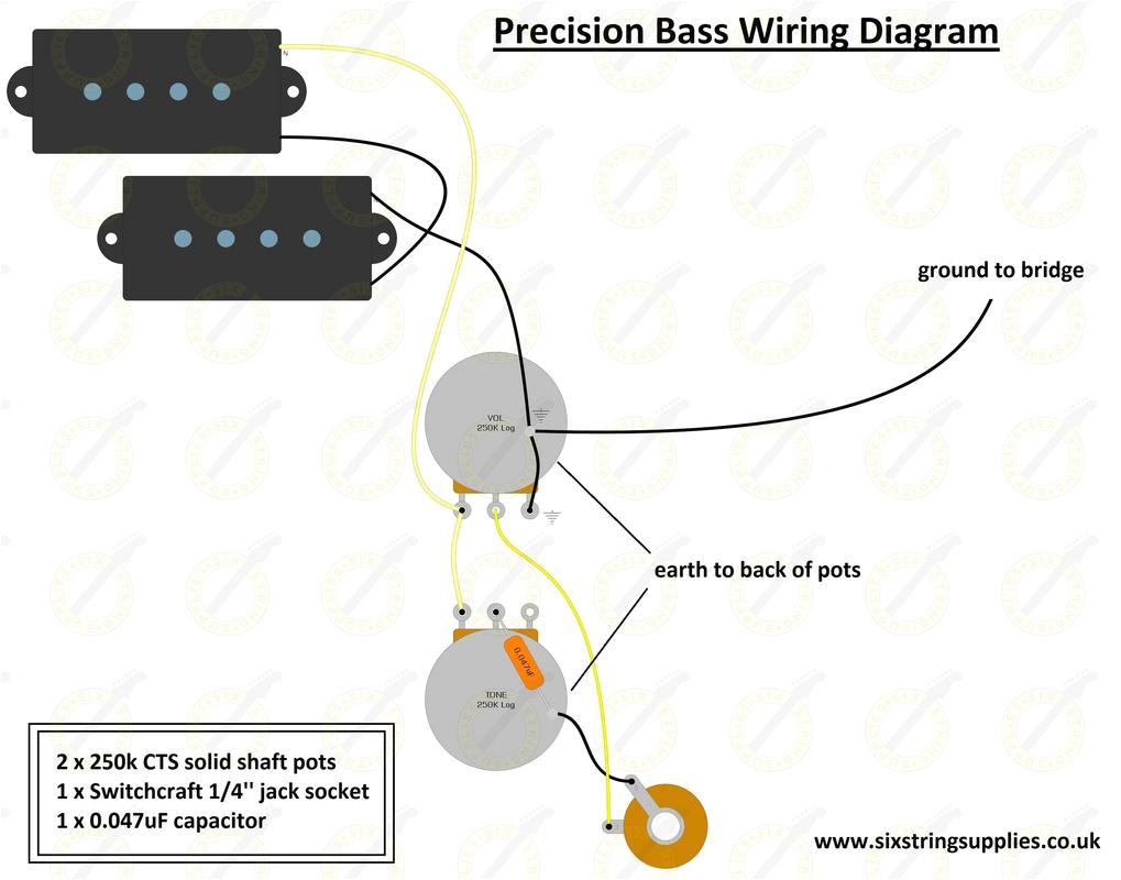 P Bass Wiring Diagram 1959 Fender Precision B Wiring Diagram Wiring Diagram
