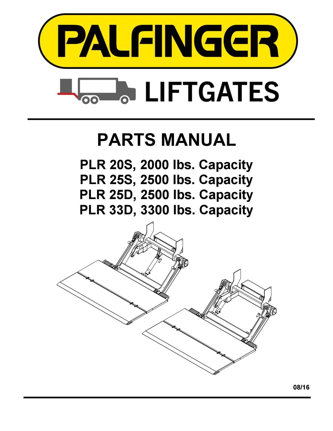 interlift plr liftgate parts manual