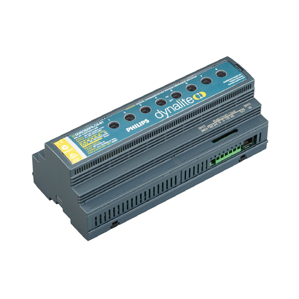 philips dynalite relay controller 8 channel multiphase