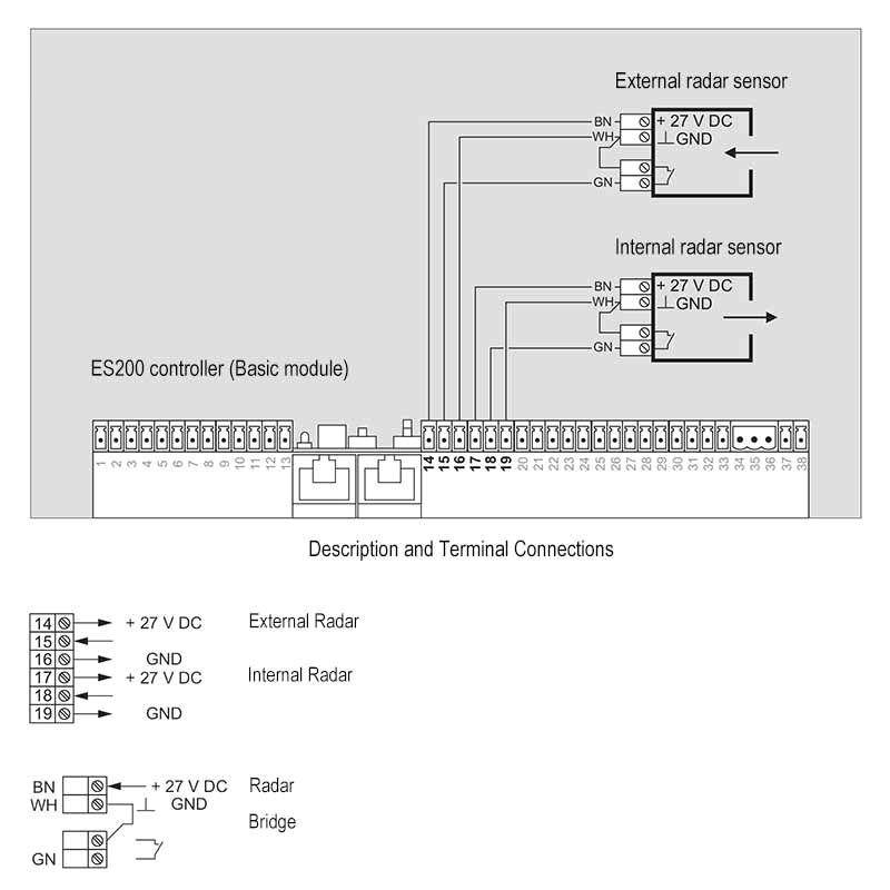 door sensor wiring diagram