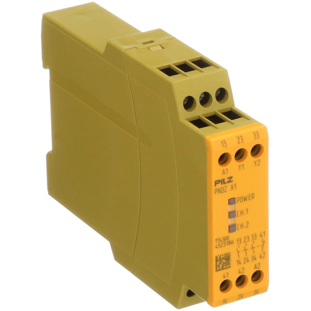 pilz pnoz x1 24vac pnoz x safety relay single channel 24v ac dc 3 safety 1 auxiliary allied electronics automation