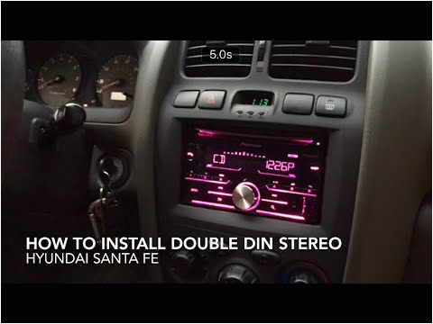 how to replace and install stereo in hyundai santa fe
