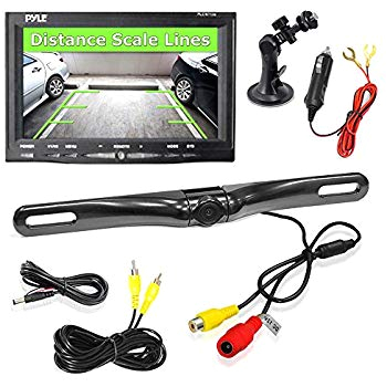 pyle backup car camera rear view screen monitor system parking and reverse assist safety distance