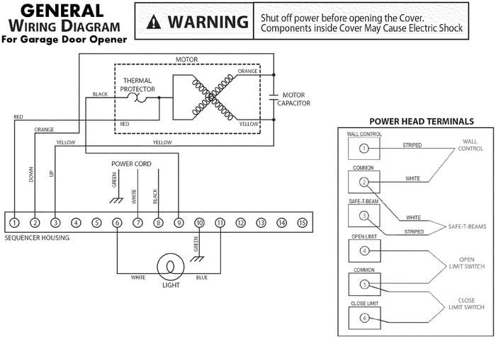 electric garage door opener stopped working no power green light general wiring diagram for garage door