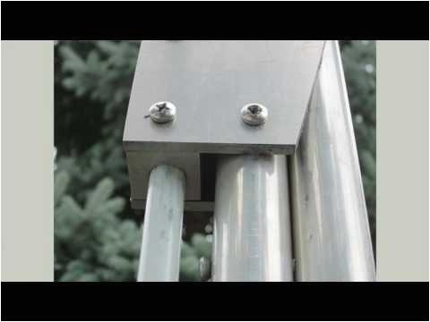 12 retractable anchor pole a home made manual power pole youtube