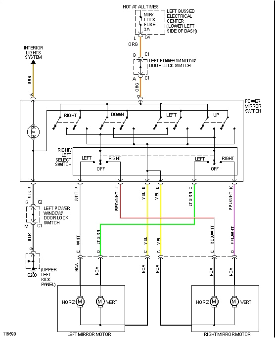 power window switch wiring diagram swapped out doors on my u0026