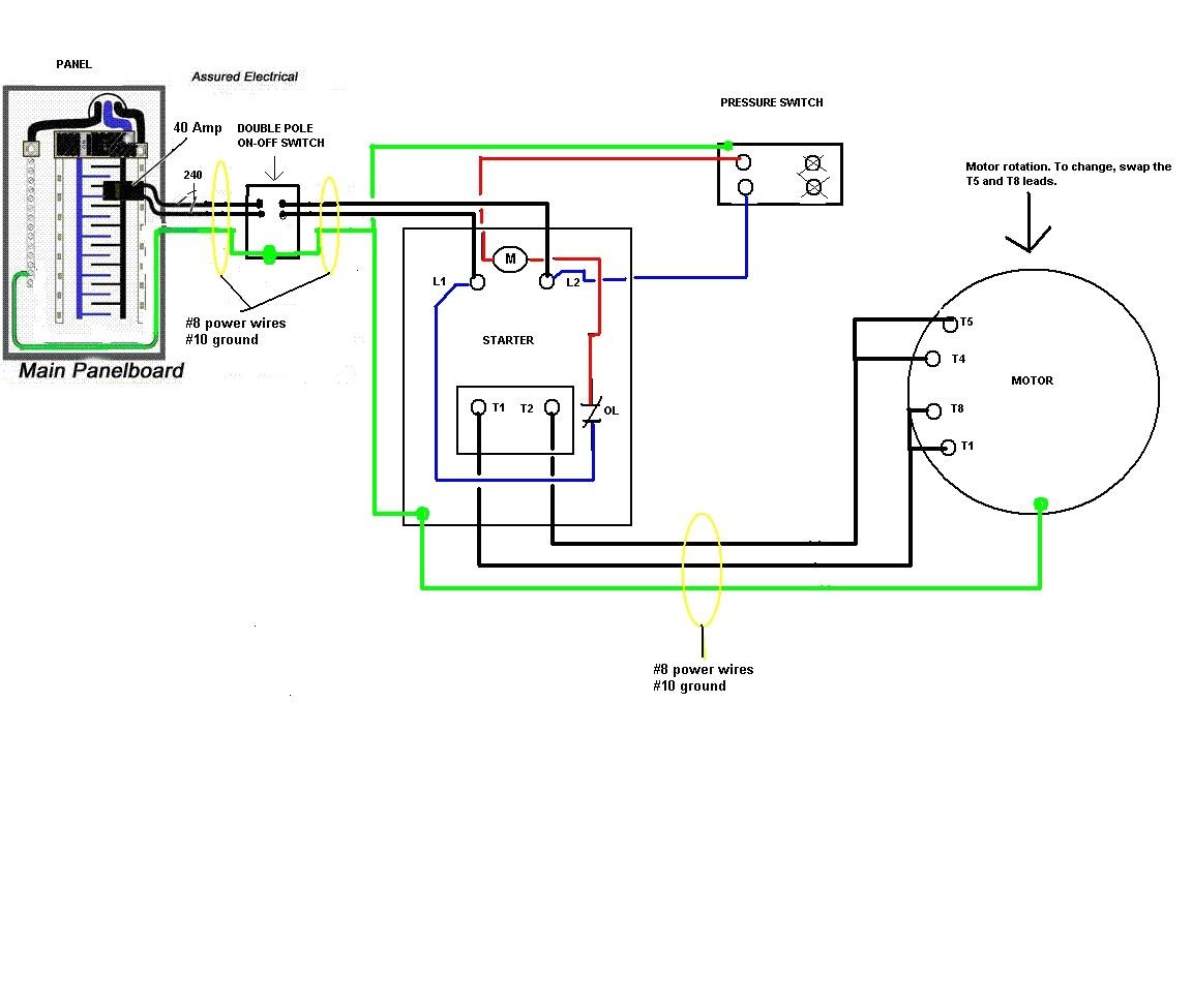 Pressure Switch Wiring Diagram Air Compressor 220 Air Compressor Wiring Diagram Wiring Diagram Show
