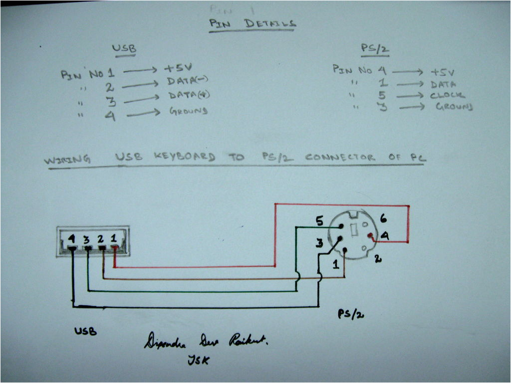 usb to ps 2 convertor ps2 to usb pinout ps2 to usb schematic